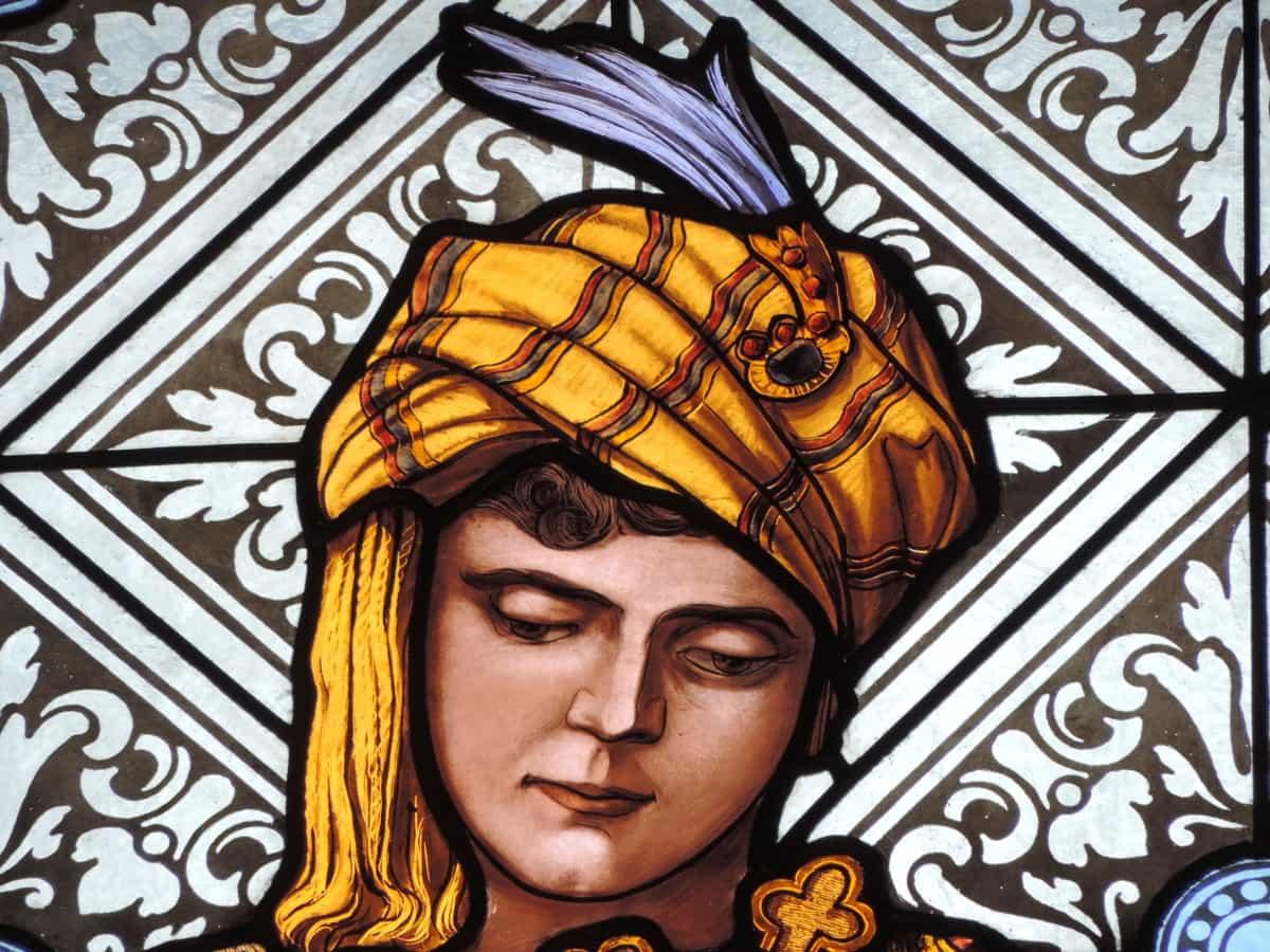 porträtt, målat glas, ung kvinna, konst, dekoration, mönster, illustration, stil