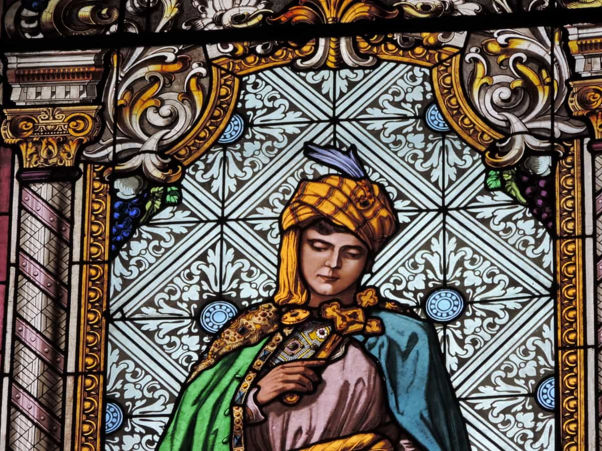 saint, stained glass, religion, art, church, decoration, pattern, spirituality