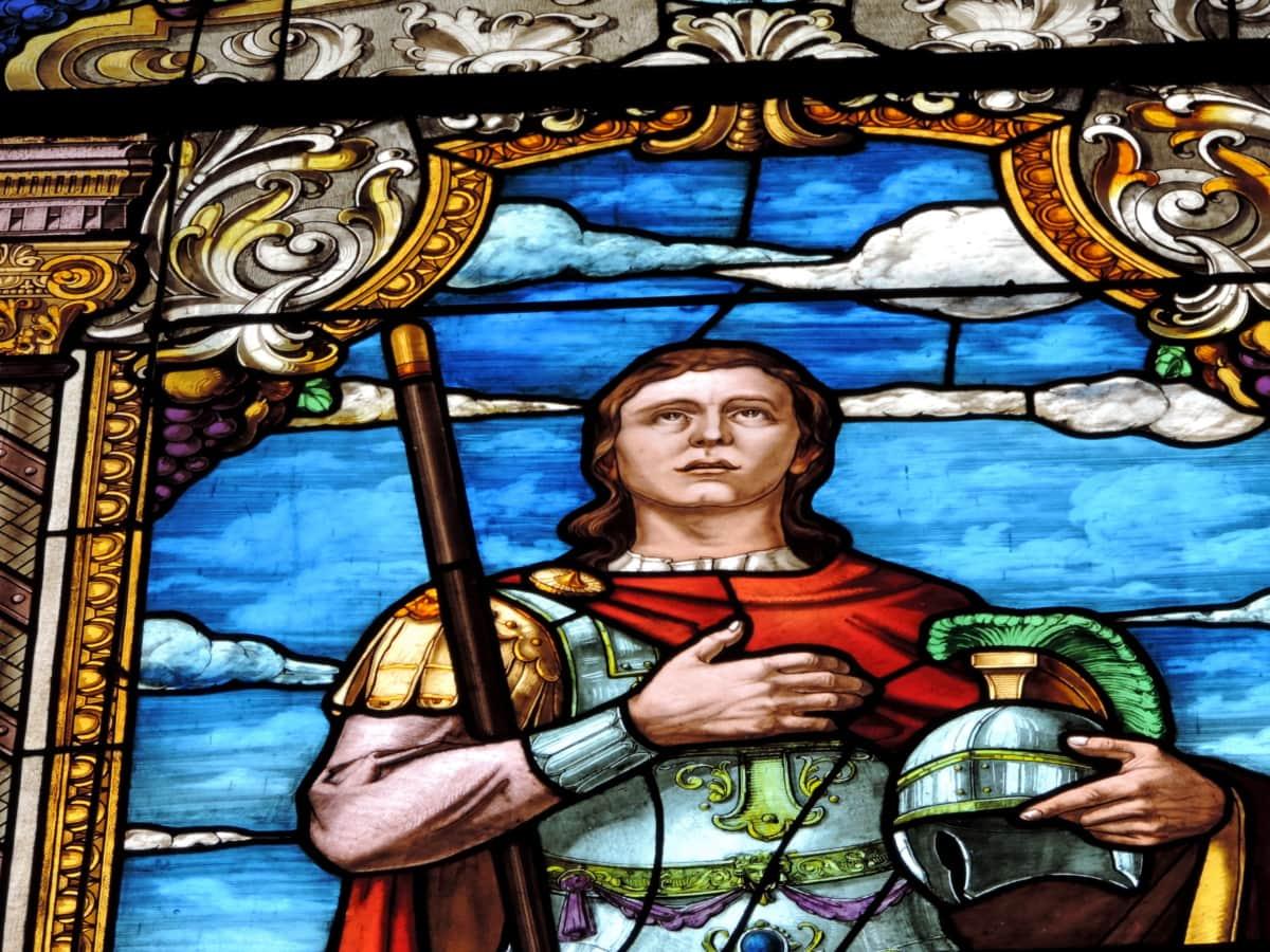 πίστη, όμορφος, Ιππότης, πρίγκιπας, χρωματισμένο γυαλί, τέχνη, θρησκεία, θρησκευτικές