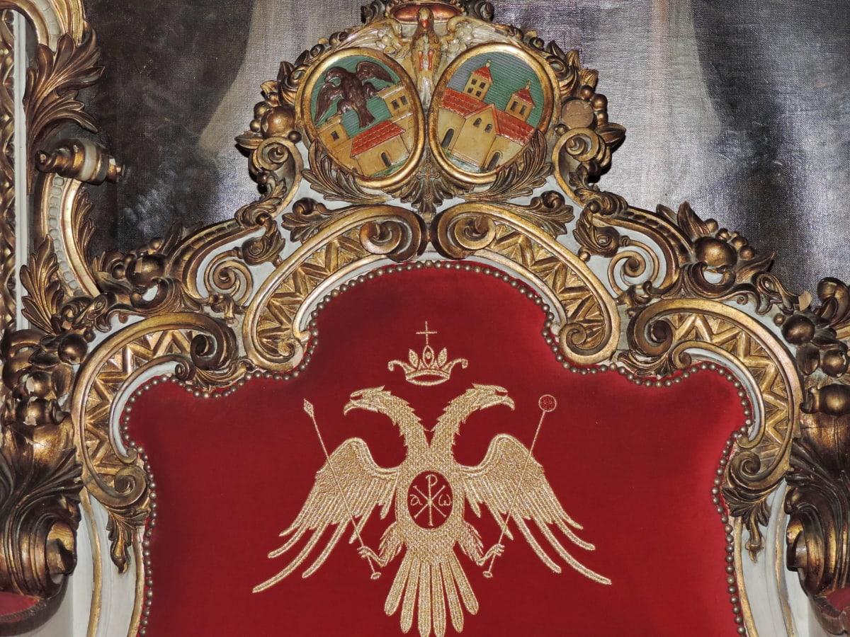 träsnideri, stol, handgjorda, medeltida, prydnad, piedestal, Royal, dekoration