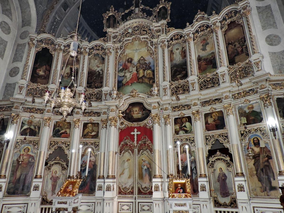 олтар, Византийски, християнството, православна, Сърбия, църква, архитектура, сграда