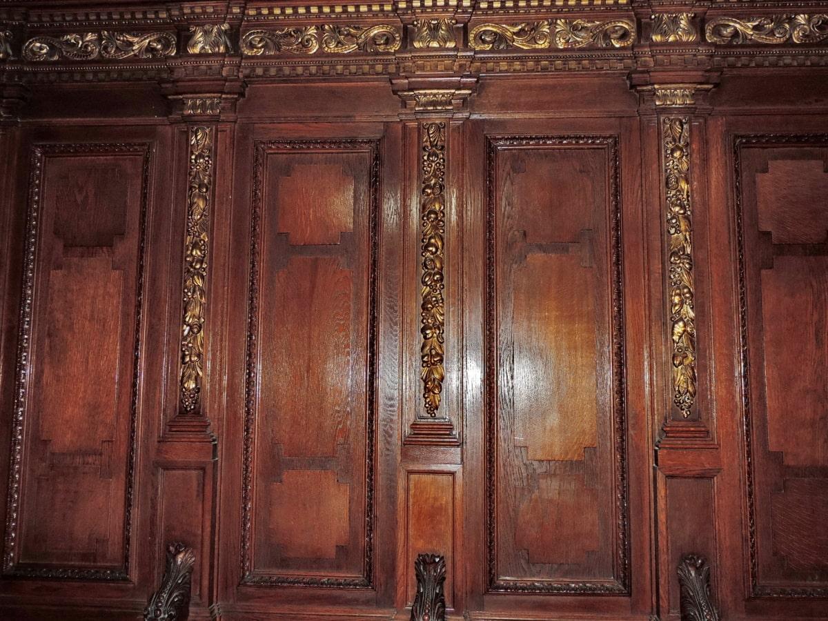 baroque, carpentry, ornament, furniture, wardrobe, wood, architecture, door