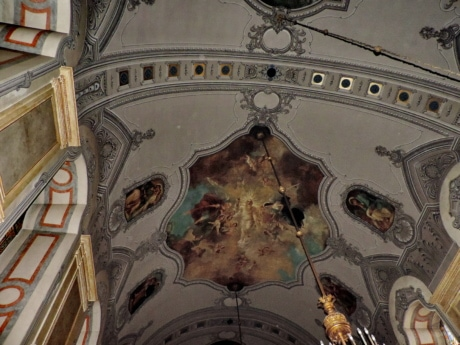 arch, Byzantine, ceiling, fine arts, interior decoration, interior design, mural, orthodox