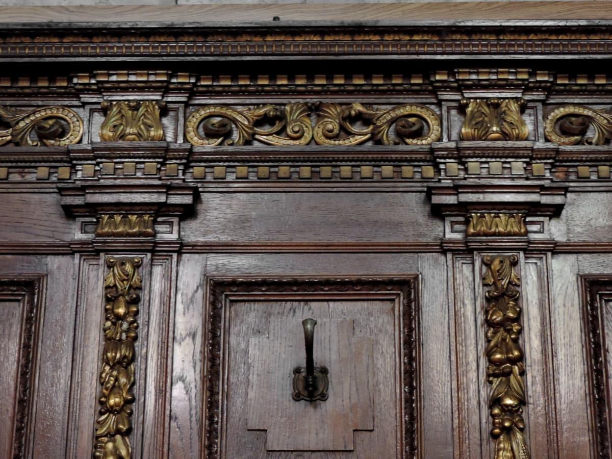 carpentry, furniture, handmade, hardwood, ornament, old, carving, sculpture