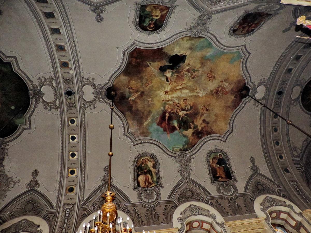 καμάρα, Θόλος, Καλών Τεχνών, θρησκεία, Εκκλησία, ανώτατο όριο, τέχνη, Ζωγραφική