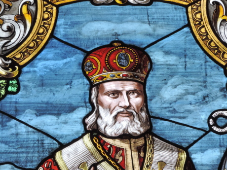 crown, king, portrait, stained glass, art, painting, old, man