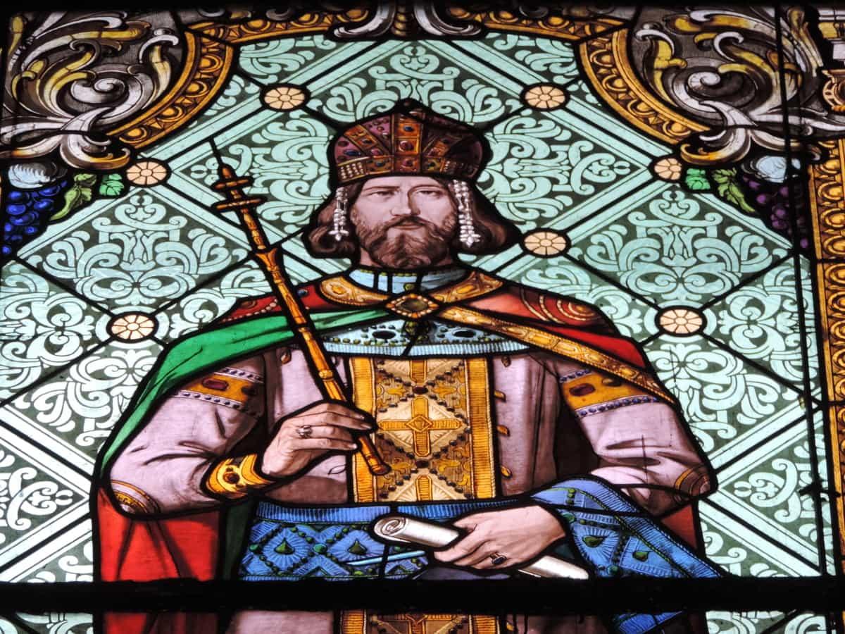 kongen, Glassmaleri, kunst, kirke, religion, interiør, helgen, religiøse