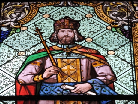 king, stained glass, art, church, religion, interior, saint, religious