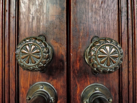 brass, carpentry, carving, wooden, handle, lock, keyhole, entrance