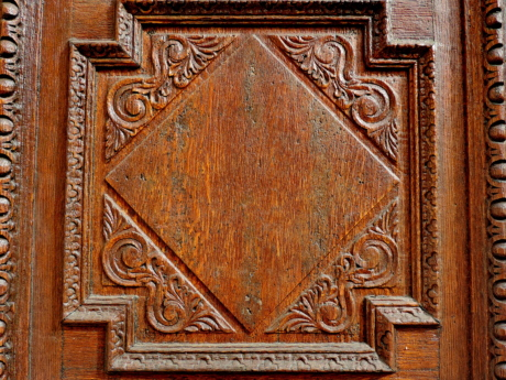 arabesque, carving, detail, handmade, oak, antique, old, texture