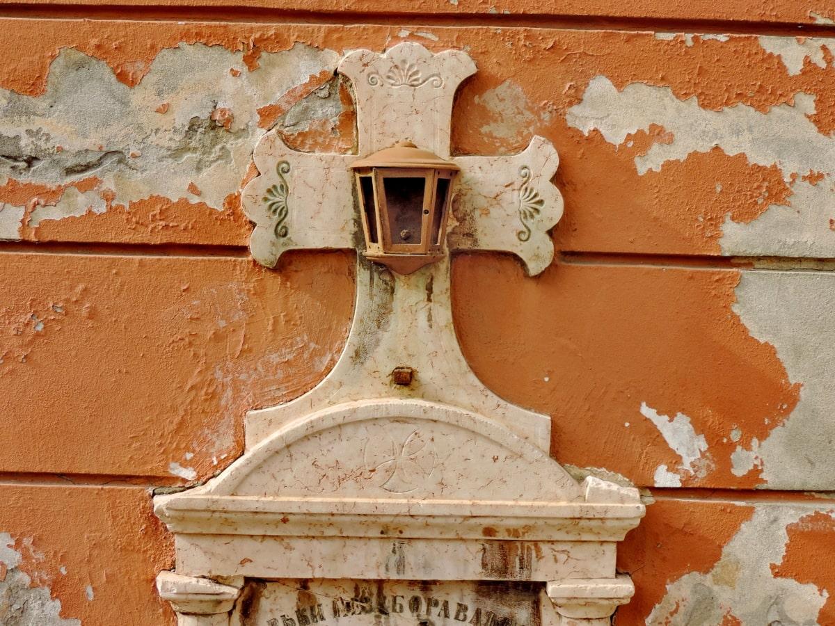 Cimitero, Chiesa, Croce, tomba, pietra tombale, architettura, vecchio, parete