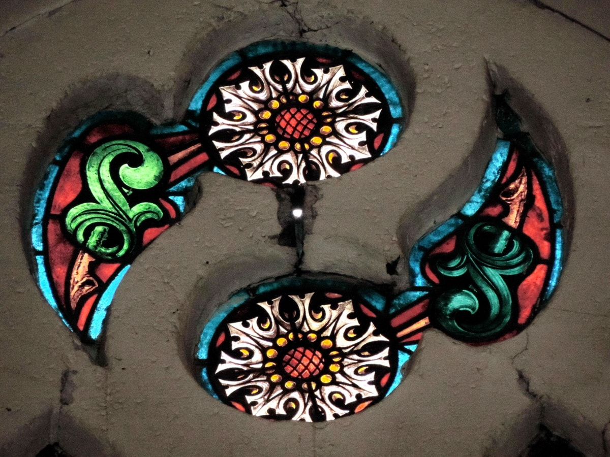 ombre, verre souillé, art, décoration, architecture, mur, conception, symbole