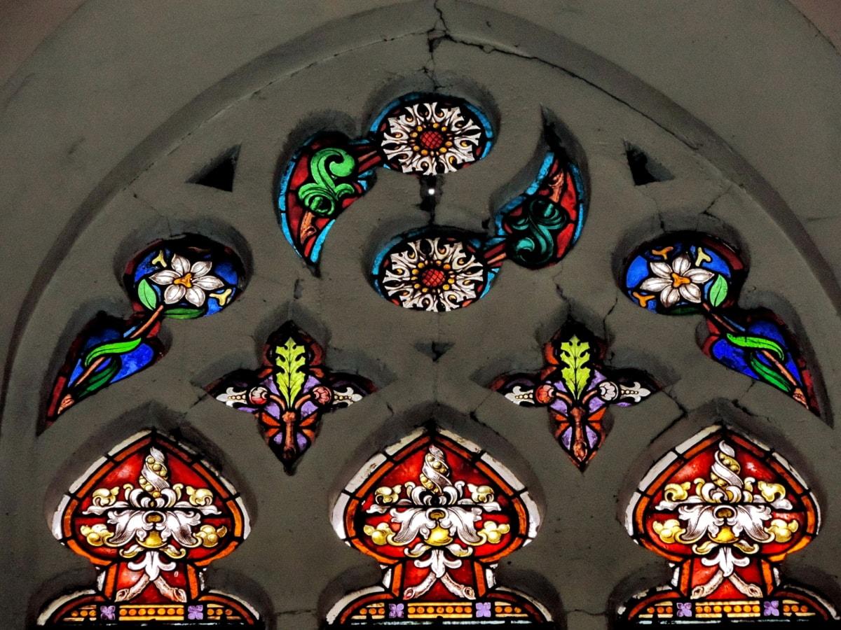cadre, Cathédrale, Église, verre souillé, fenêtre, religion, à l'intérieur, religieux