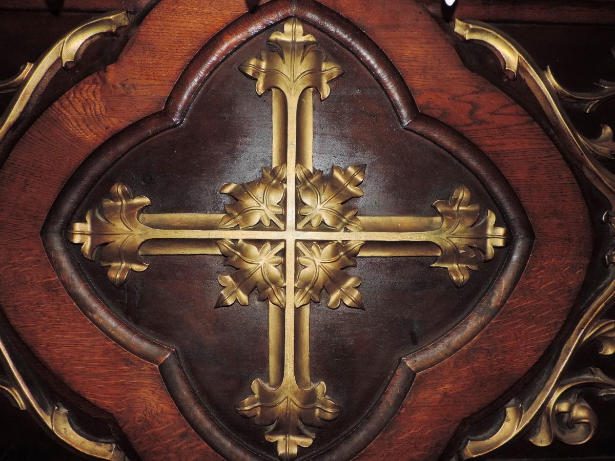 σκάλισμα, Σταυρός, έπιπλα, γοτθικός, μασίφ ξύλο, Δρυς, θρησκεία, θρησκευτικές