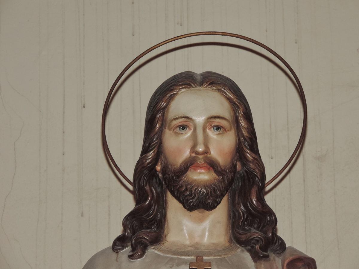 Kristus, kristen, kristendommen, helgen, skulptur, kunst, folk, Portræt