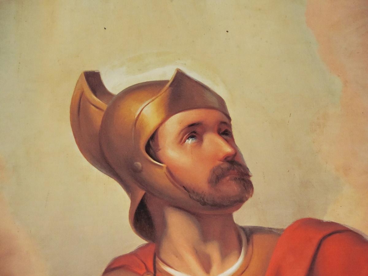 Καλών Τεχνών, Ιταλία, μεσαιωνική, Ζωγραφική, κολλήσεις, άτομα, καπέλο, πορτρέτο