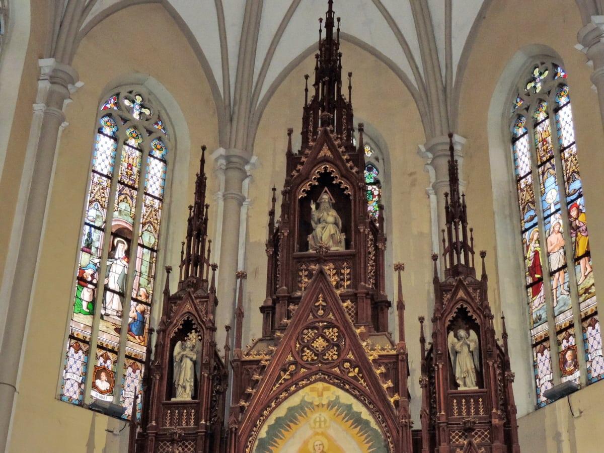 олтар, катедрала, католическа, структура, религия, архитектура, църква, сграда