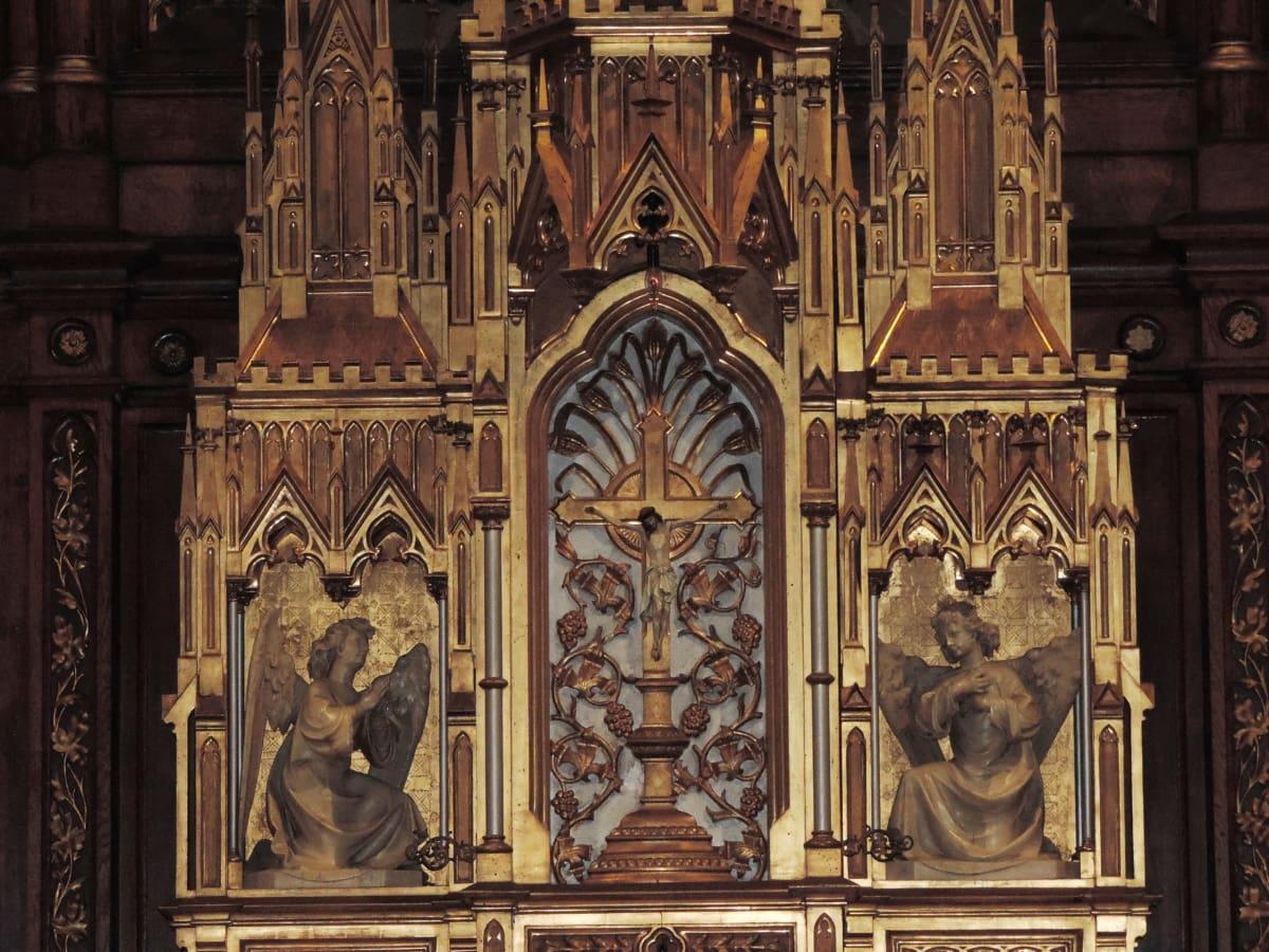 олтар, изкуство, катедрала, католическа, Готически, ръчно изработени, архитектура, структура