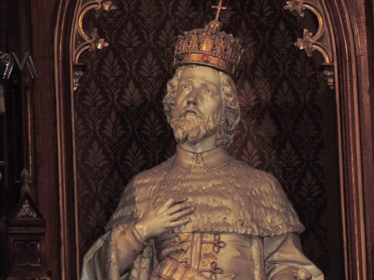 katolički, kruna, Kralj, kraljevske obitelji, religija, skulptura, hram, drevno