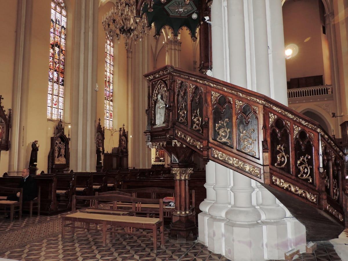 Καθεδρικός Ναός, καθολική, έπιπλα, διακόσμηση εσωτερικών χώρων, αρχιτεκτονική, κτίριο, Εκκλησία, βωμός
