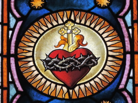 cross, heart, stained glass, religion, window, art, pattern, painting