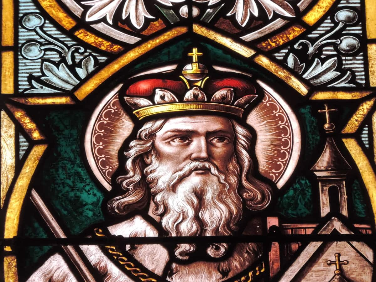 beard, crown, culture, king, portrait, stained glass, worship, religion