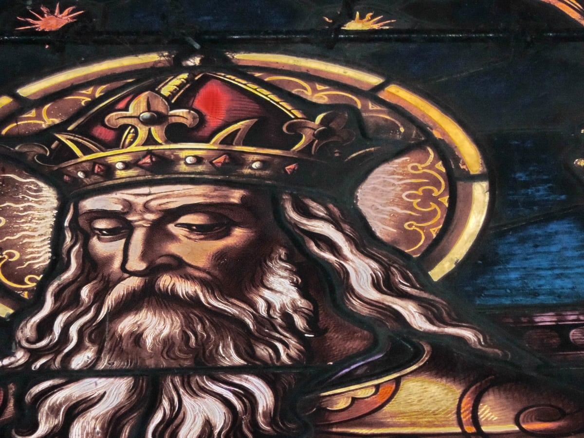 Huy hiệu, vua, thời Trung cổ, kính màu, tôn giáo, Trang trí, nghệ thuật, bức tranh