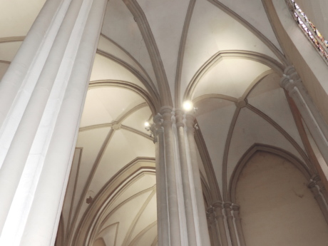 arch, cathedral, catholic, ceiling, architecture, church, covering, building