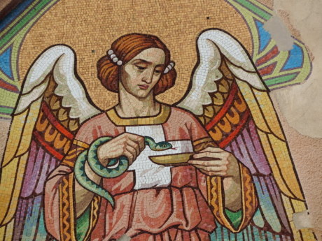 Angel, facade, mosaik, Smuk pige, kunst, maleri, religion, illustration