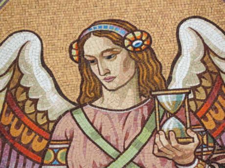 angel, portrait, young woman, decoration, art, mosaic, old, religion