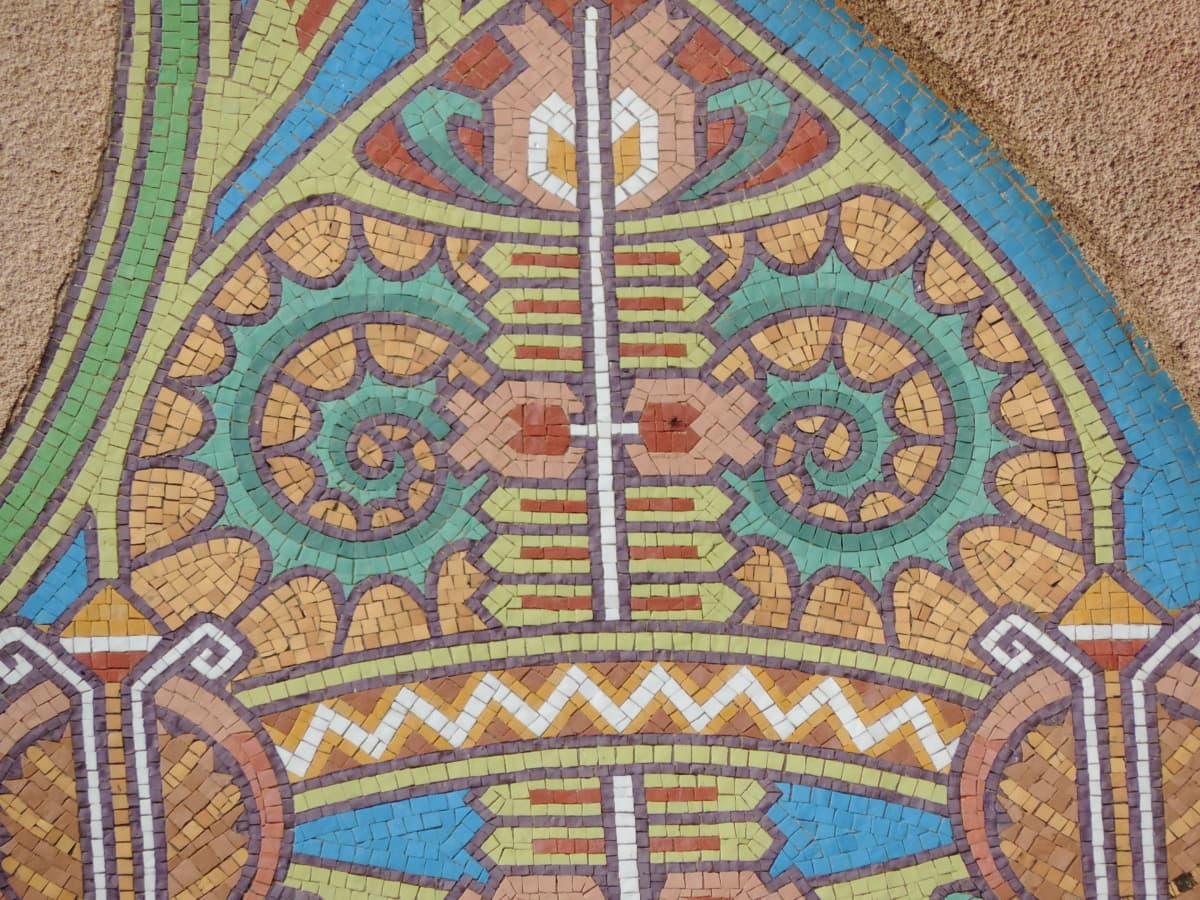 Arabesque, πρόσοψη, μωσαϊκό, συμμετρία, Περίληψη, Αρχαία, αντίκα, τέχνη