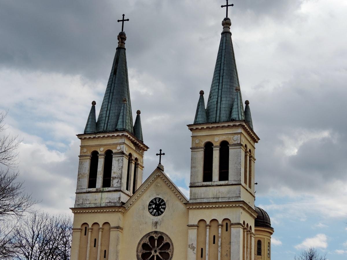 католическа, църква, архитектура, манастир, катедрала, религия, сграда, на открито