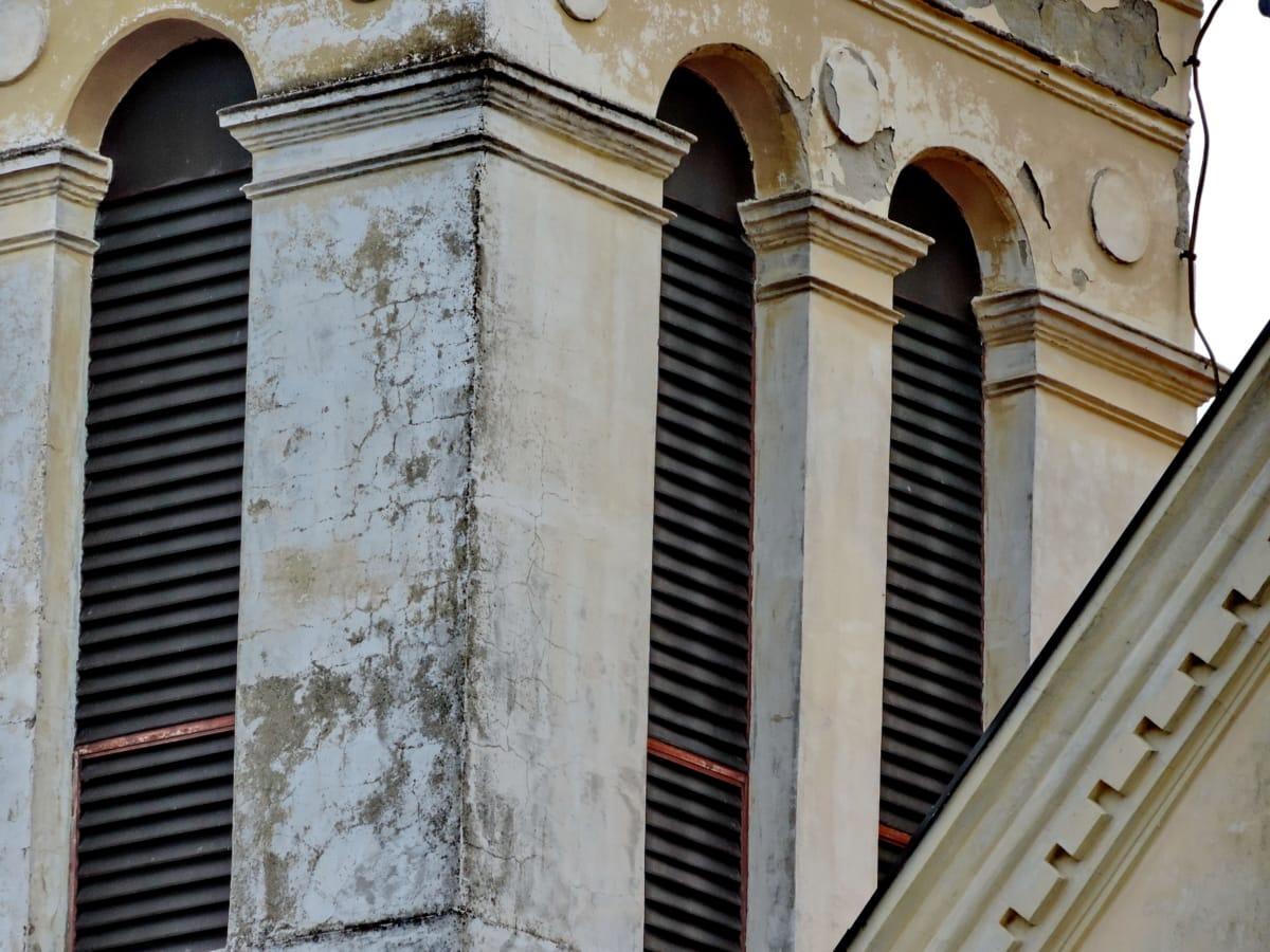 изоставени, Църквата кула, култура, мръсни, Готически, средновековна, сграда, архитектура