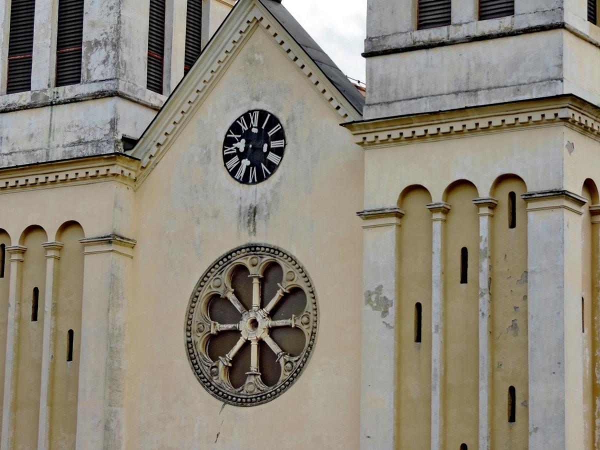 катедрала, църква, фасада, архитектура, религия, сграда, стар, Готически