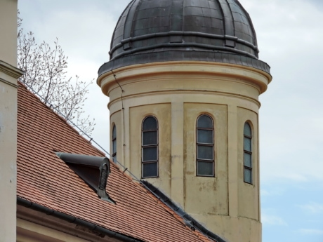 church tower, church, dome, building, architecture, roof, covering, city