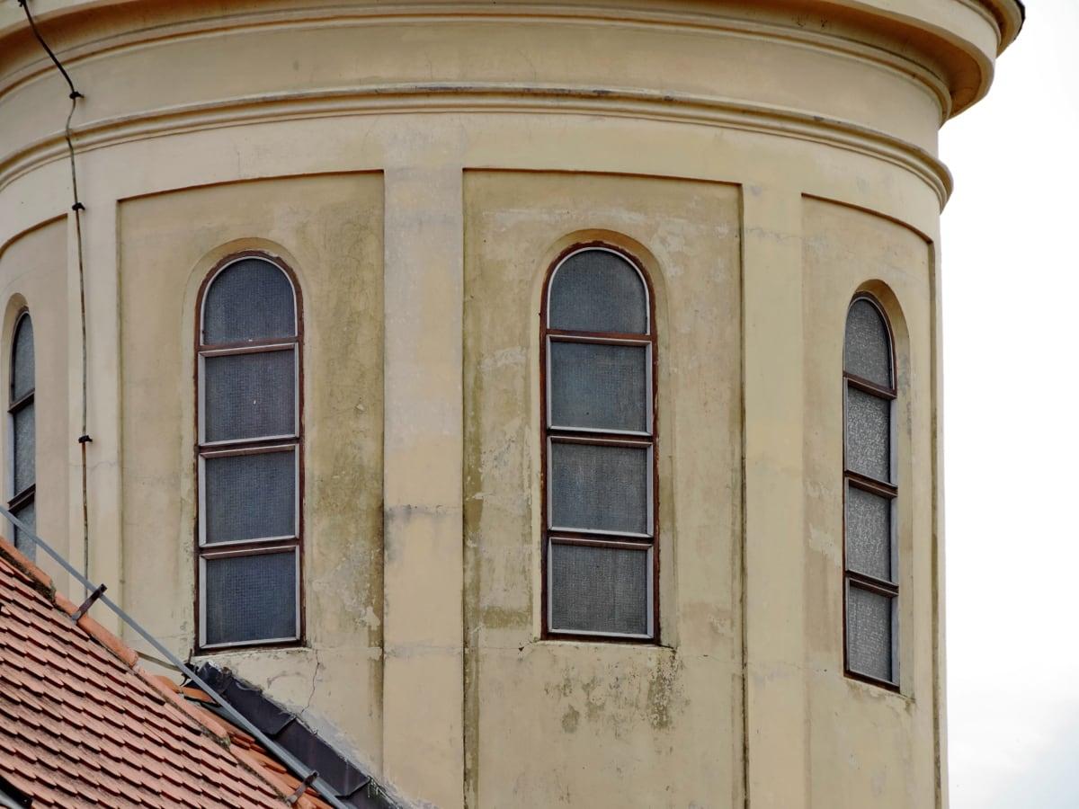 kilise kulesi, gotik, Bina, Cephe, mimari, pencere, eski, Dış