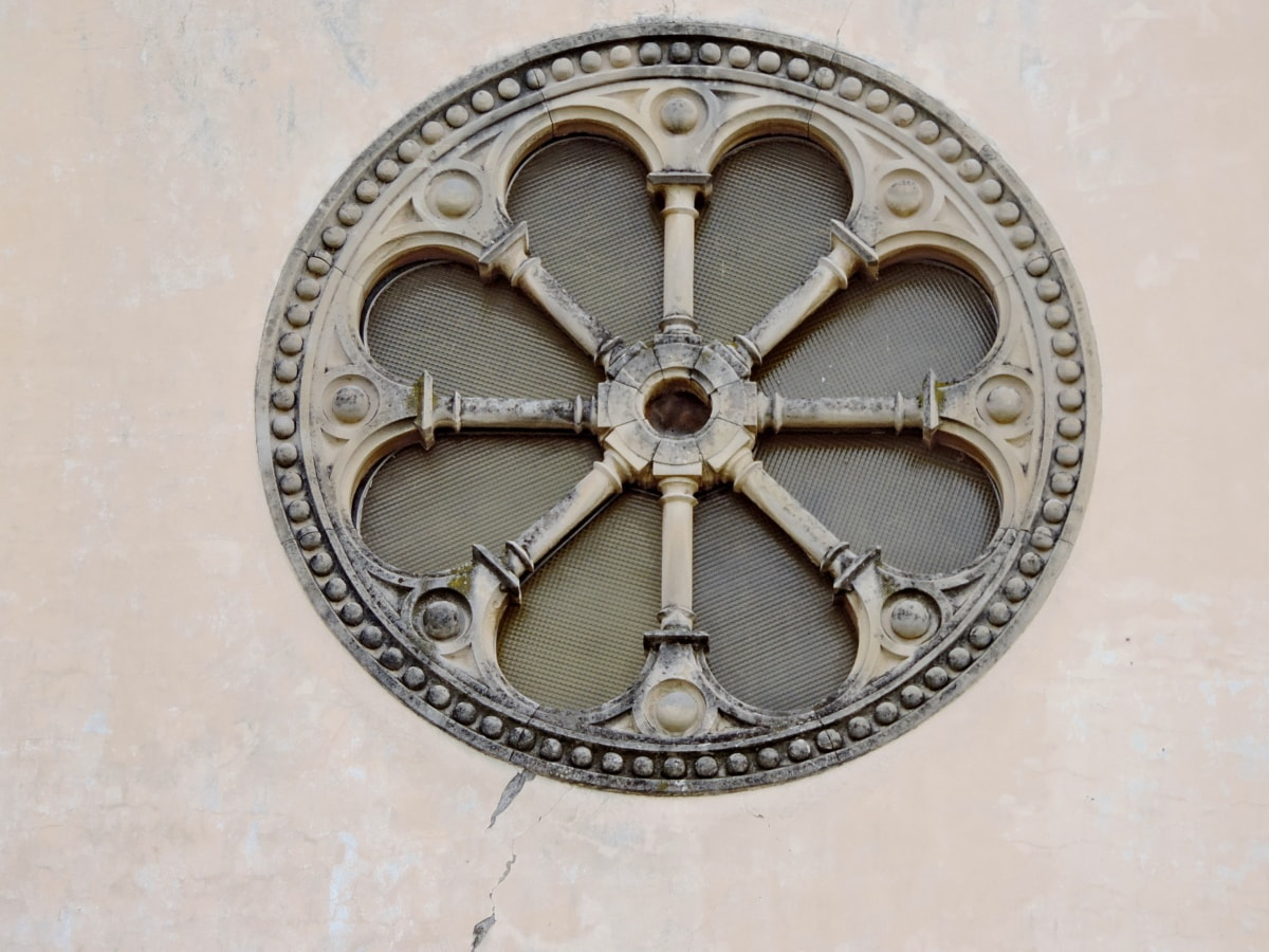art, circle, gothic, medieval, ornament, old, architecture, ancient