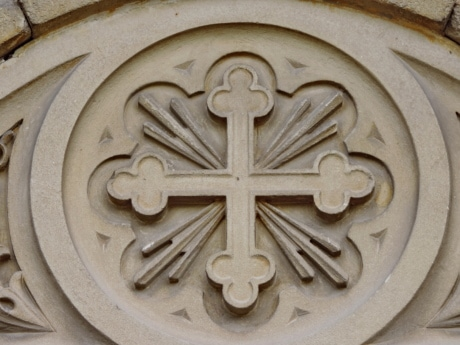 christian, christianity, cross, symbol, architecture, ancient, old, decoration