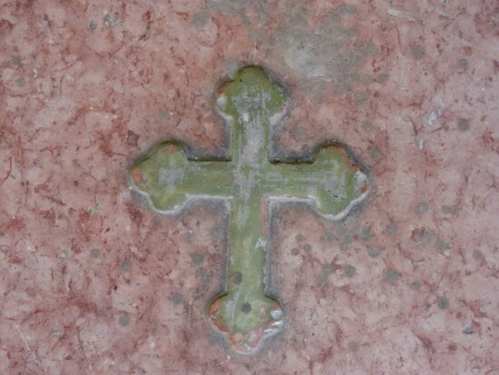 christianity, handmade, marble, cross, symbol, old, abstract, wall