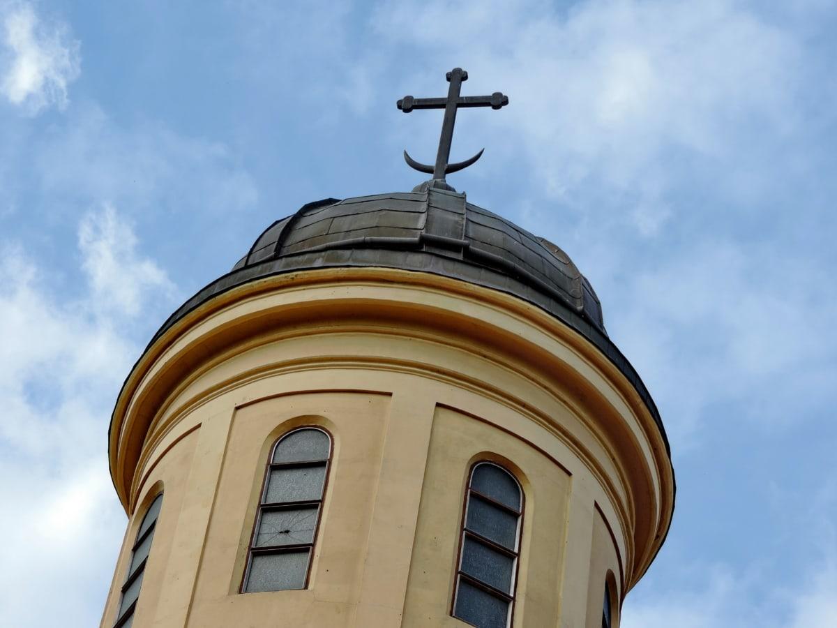 християнството, Църквата кула, кръст, история, средновековна, сграда, покриващи, църква