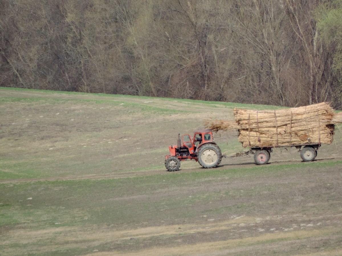 poljoprivreda, rad na terenu, traktor, vozila, krajolik, farma, mašina, polje