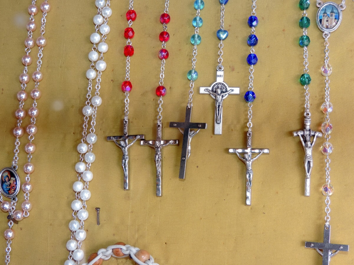 christianity, gifts, jewelry, religious, necklace, decoration, beads, precious