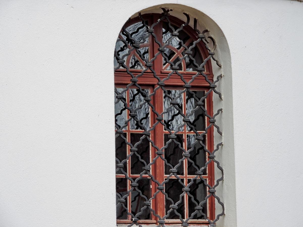 Valurauta, käsintehty, Ornamentti, ikkuna, kehys, arkkitehtuuri, ovi, puu