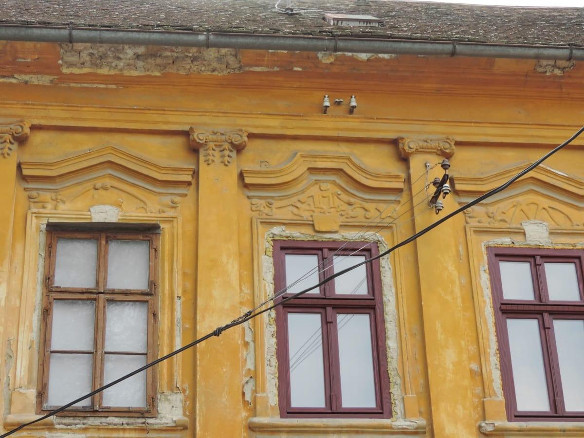 ถูกทอดทิ้ง, ไฟฟ้า, หน้าต่าง, สายไฟ, สถาปัตยกรรม, หน้าอาคาร, เฮ้าส์, อาคาร