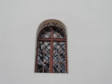 arch, cast iron, ornament, window, architecture, building, vintage, daylight