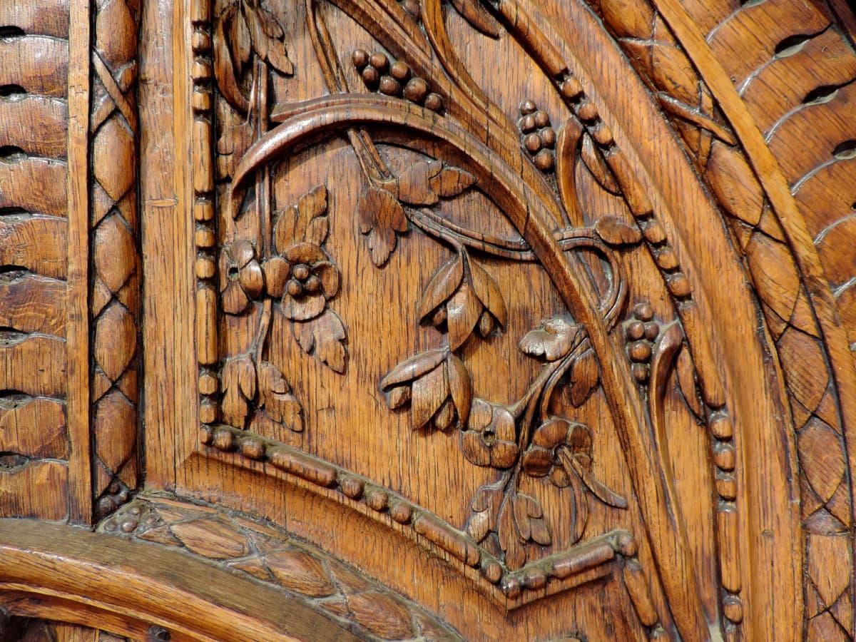 sculptură, mobilier, lucrate manual, lemn de teak, vechi, lemn, proiectare, tamplarie