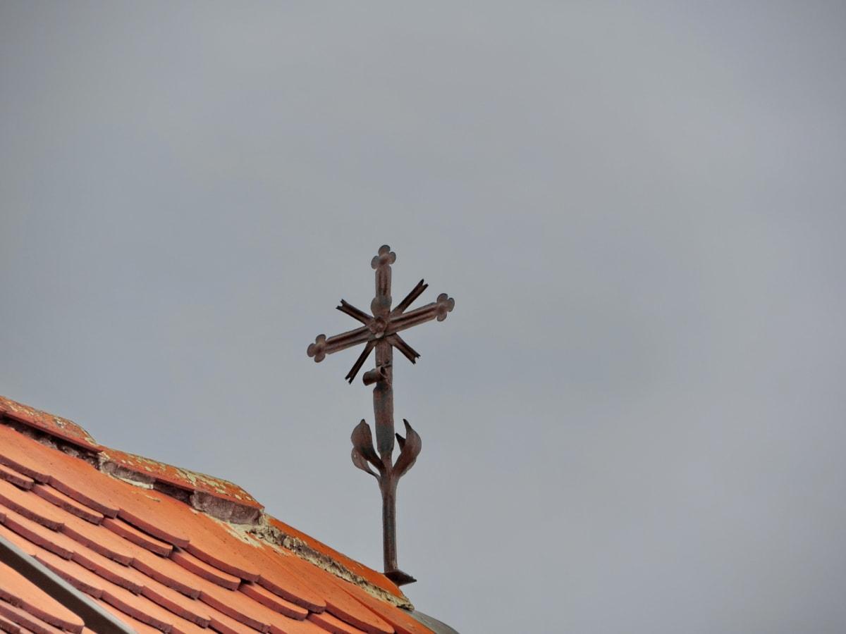 кръст, наследство, архитектура, на открито, дневна светлина, покрив, синьо небе, природата