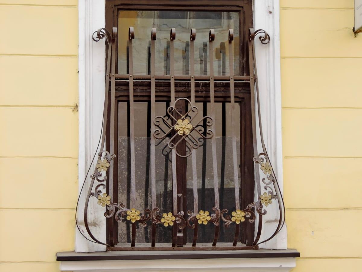 kreatív, dekoráció, Dísz, ablak, építészet, ház, régi, épület