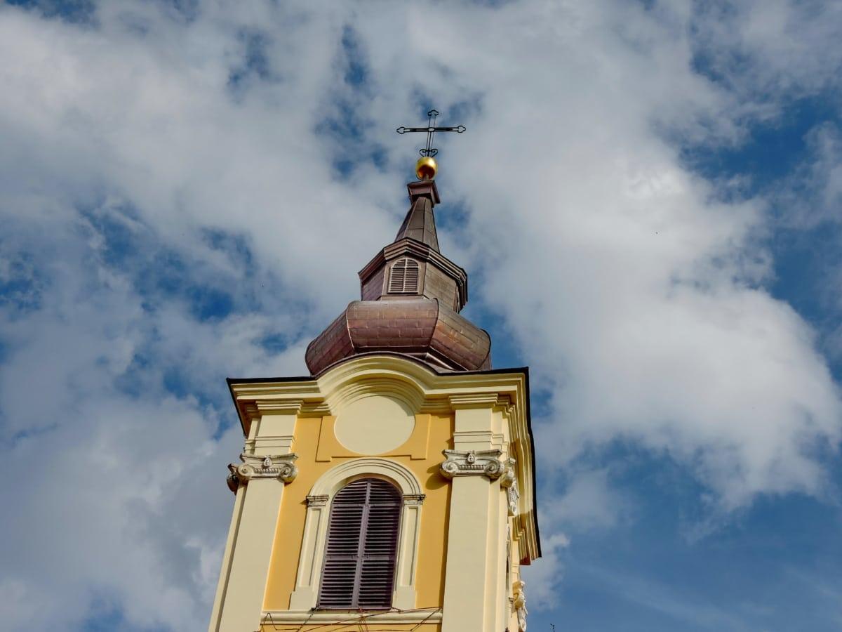blauer Himmel, Kirchturm, Himmel, Erbe, geistigkeit, Religion, Kreuz, Kuppel