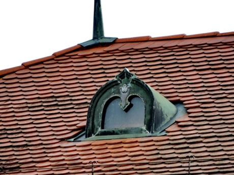 copper, handmade, rooftop, window, roof, house, building, tile